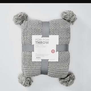 PomPom Throw Blanket (Brand New)