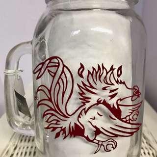 South Carolina Gamecocks Mason Jar Beer Mug