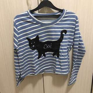 cat crop top