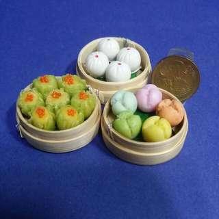 Dollhouse Miniature Food : Dim Sum In Basket