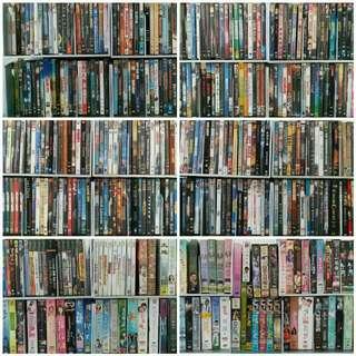 BluRay, DVD, CD