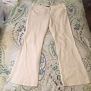 Theory White Pants Size 10