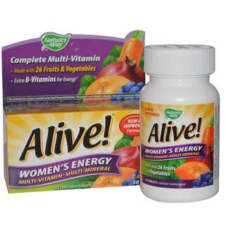 Women's Multivitamin (Nature's Way, Alive!) 50 Tablets