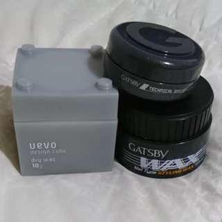 Gatsby and Uevo Wax and Clay assortment