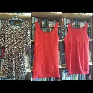 Dresses And Blouses 100 Pesos Each Only.