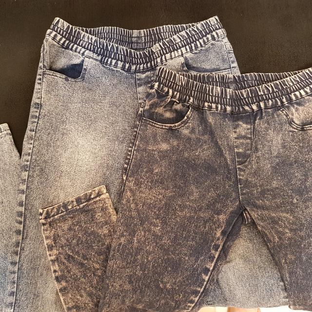 牛仔彈性內搭褲×2(含運)