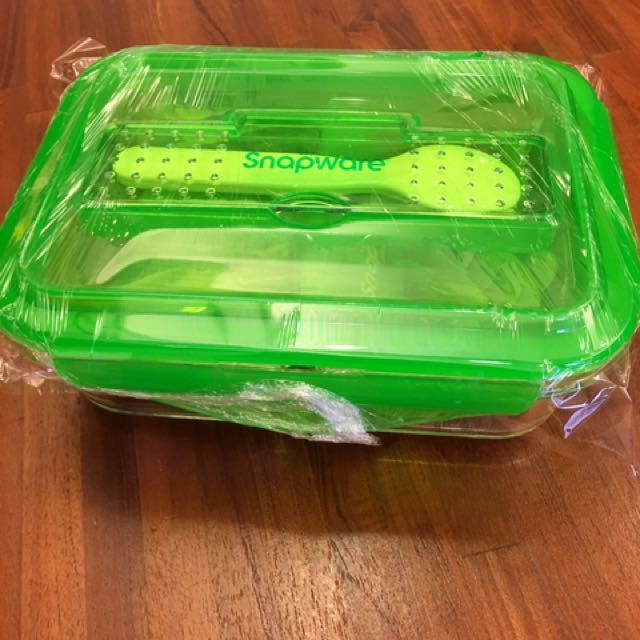 康寧分隔式玻璃保鮮盒990ml