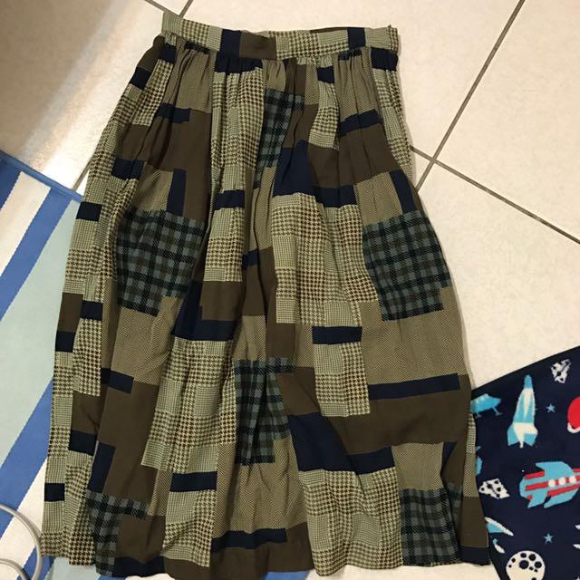 日本古著店購入格子裙
