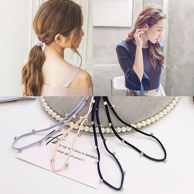 珍珠 髮帶 髮圈