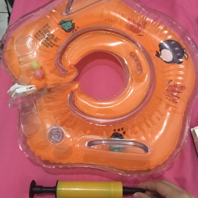 嬰幼兒 頸圈 寶寶游泳用 1歲以下可以用 附打氣
