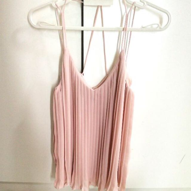 ASOS Pleated Blush Strappy Cami