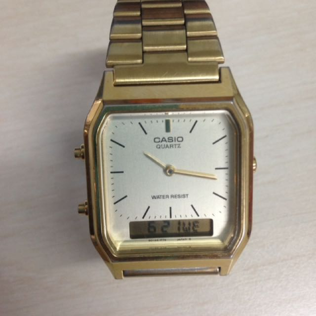 Auth Casio Gold