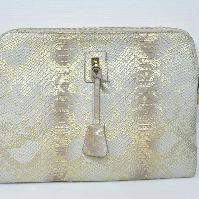 Authentic Gracious Aires Laptop Bag Snake Embossed