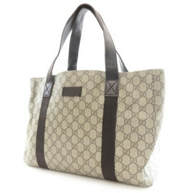 Authentic GUCCI PVC tote bag GG pattern 141624