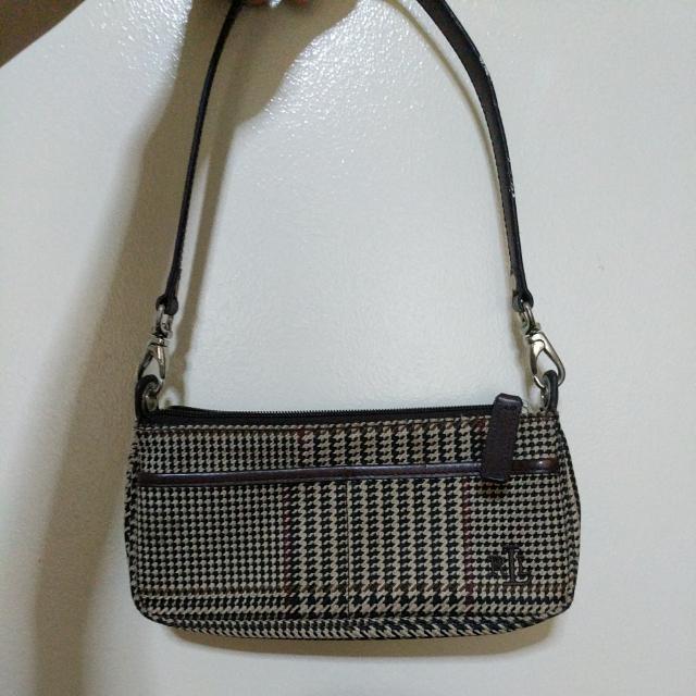 Authentic Ralph Lauren Plaid Shoulder Bag
