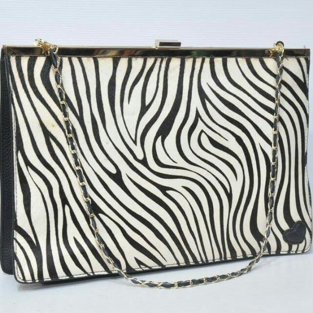 Authentic Tocco Tenero Zebra Bag