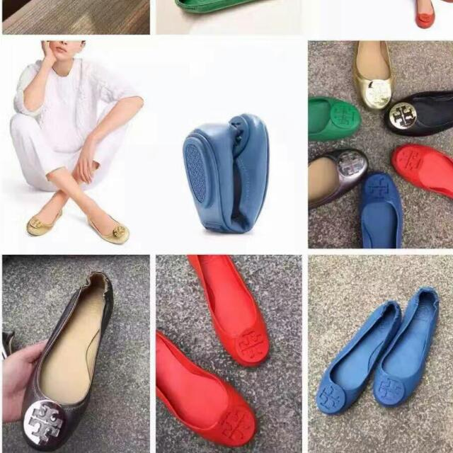 9ed788f3b69 Authentic Tory Burch Minnie Travel Leather Ballet Flats Shoes With Logo,  Women's Fashion, Shoes on Carousell
