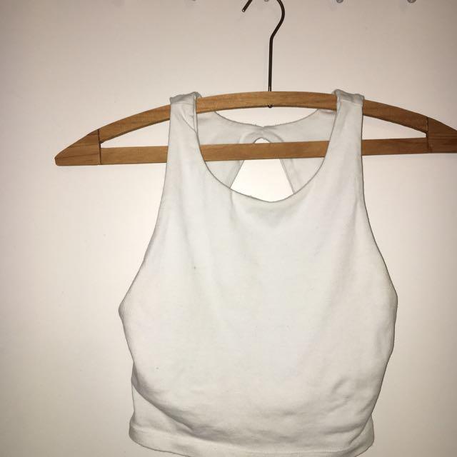 Backless White Kookai Crop Top