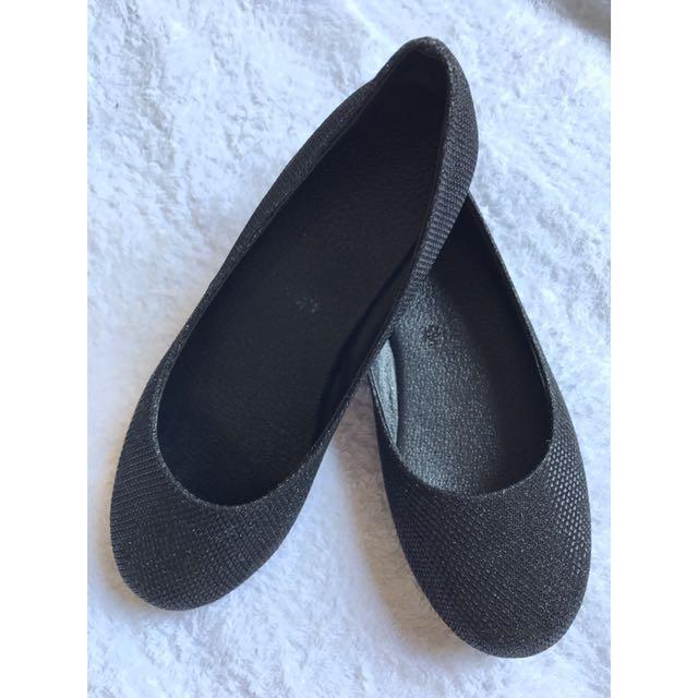 Ballet Flats - Black Shimmer