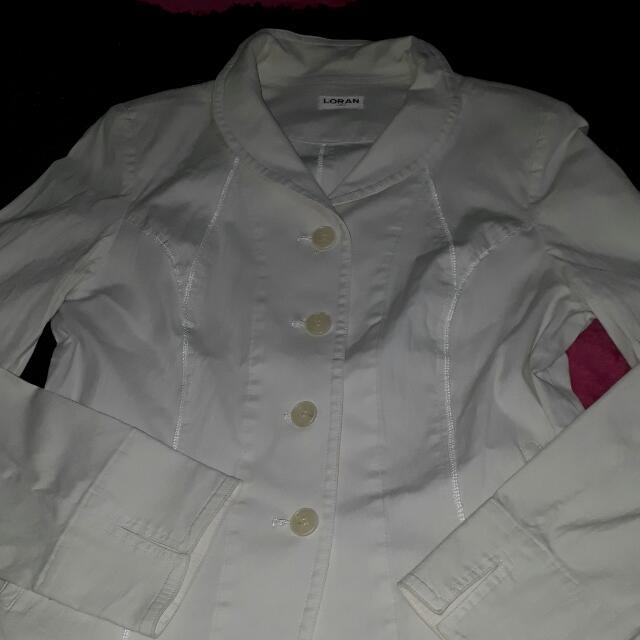 blazer putih loran