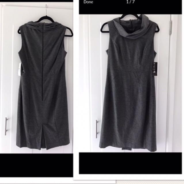 BNWT Cue Grey Roll Neck Dress Size 12
