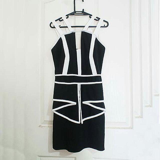 B&W Evening Dress