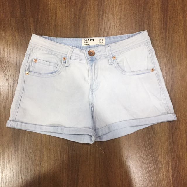 Cotton On Light Denim Shorts Size US4