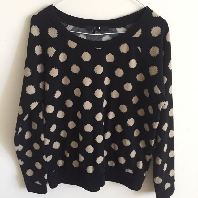 F21 Polka dot sweater