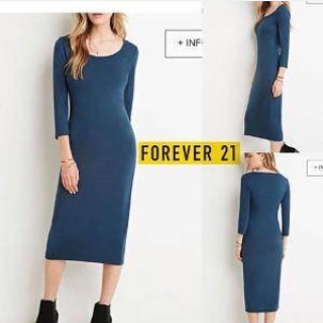 forever21 midi dress