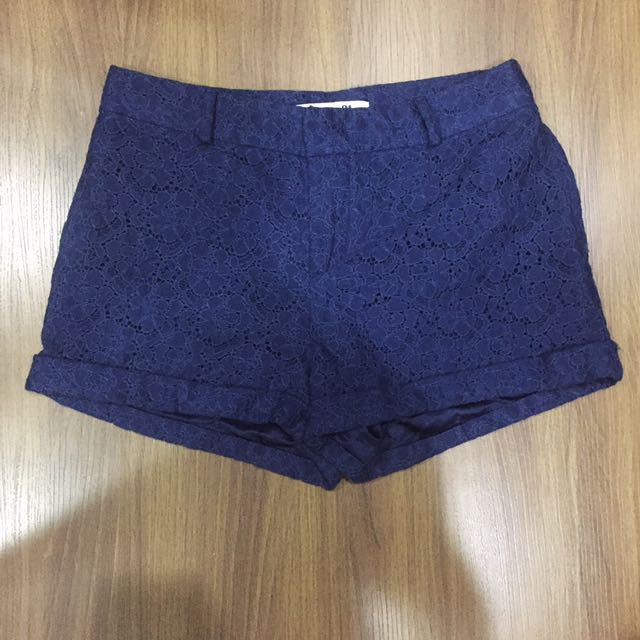 Forever 21 Midnight Blue Lace Shorts