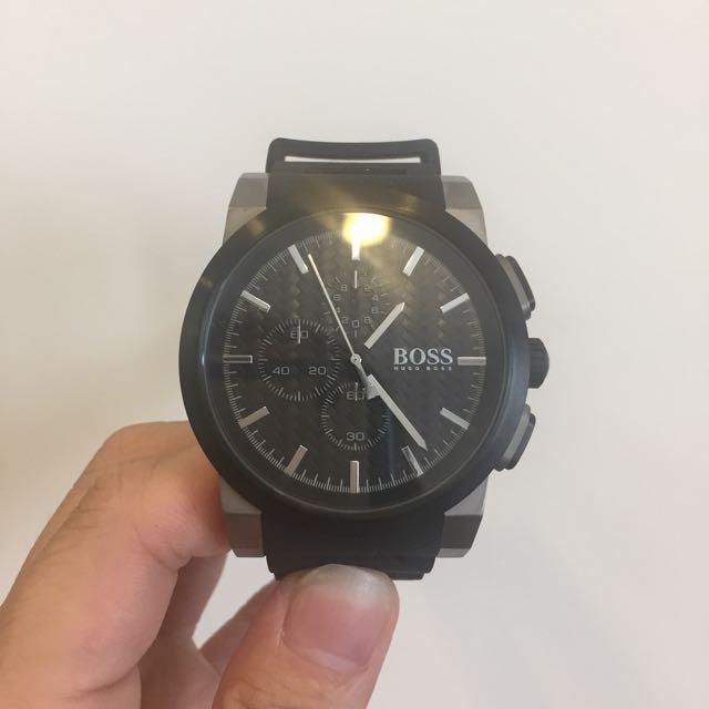 Hugo Boss 計時腕錶 精緻矽膠錶帶