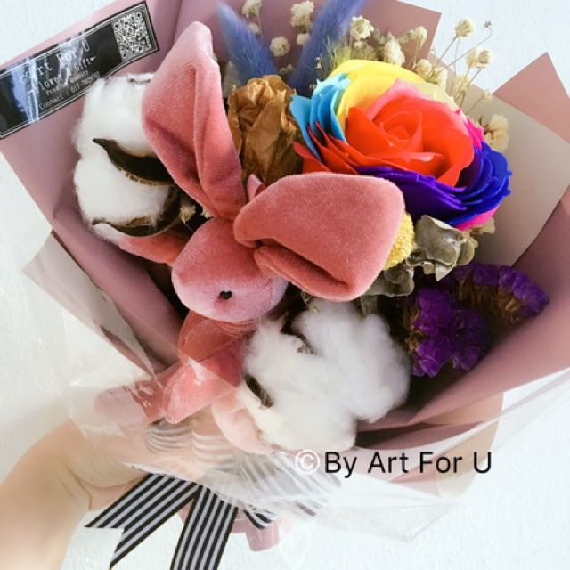 Korean Style Dried Flower Bouquet, Design & Craft, Handmade Goods ...