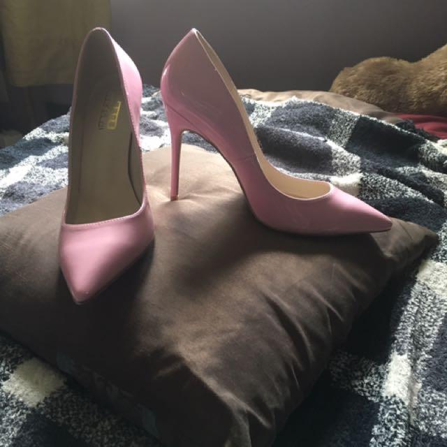 Leather Pink Stilettos