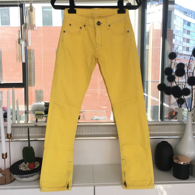 Lee Bright Yellow Jeans Size 6