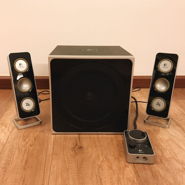 cc6fbc6431a Logitech Z4 Speaker, Electronics, Audio on Carousell