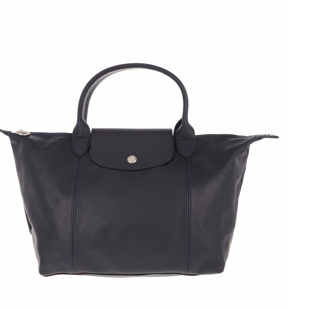 Longchamp Cuir Small Navy Bag (Genuine, New and On Hand for Shipping)