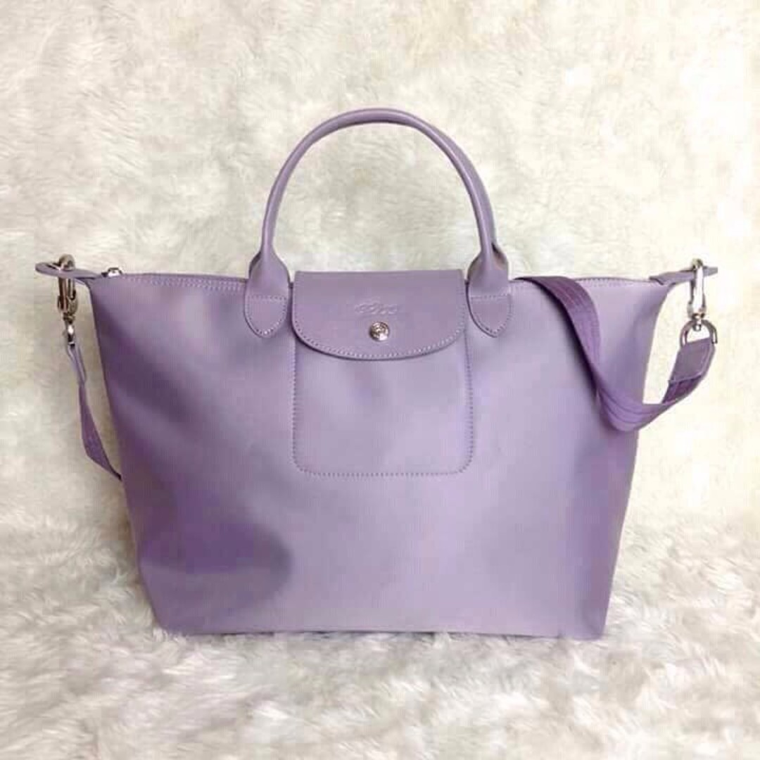 Longchamp Neo Medium Lilac Bag (Genuine, New and On Hand for Shipping)