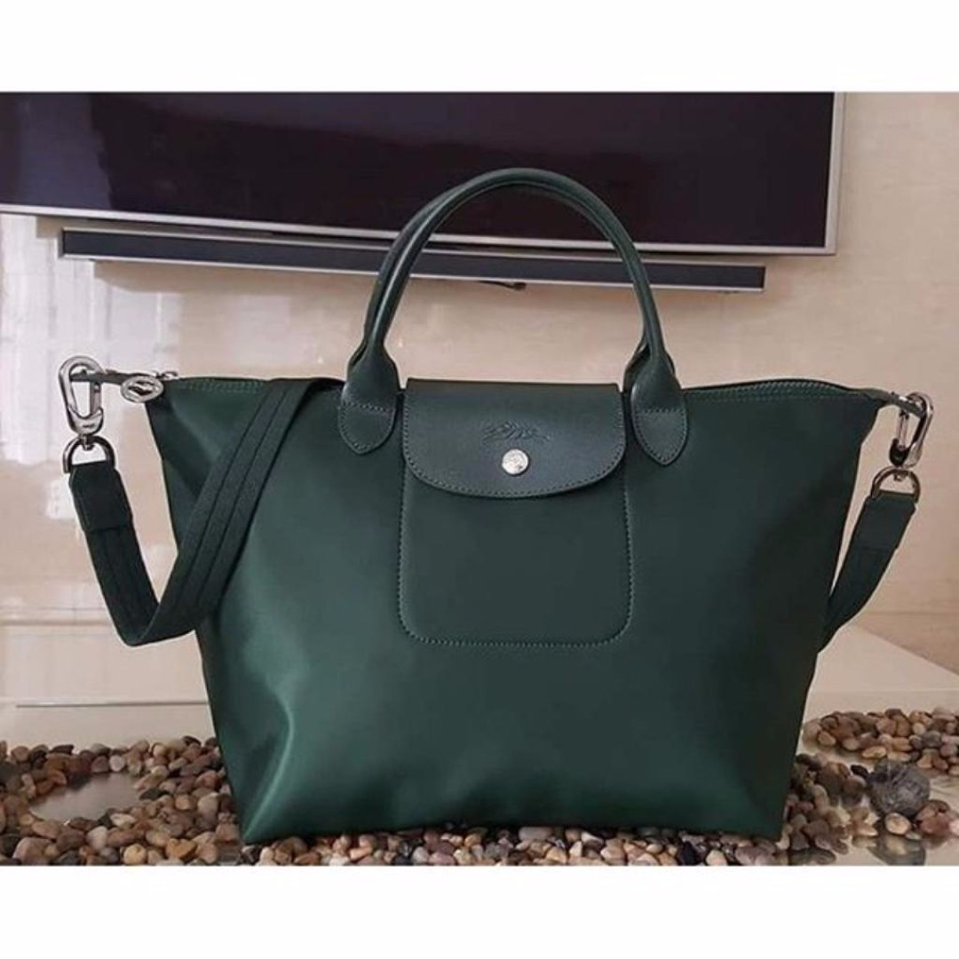 Longchamp Neo Medium Moss Green Bag (Genuine, New and On Hand for Shipping)