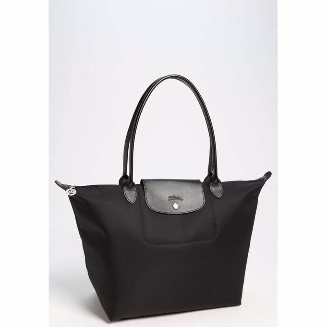 Longchamp Planetes Large Tote Black Bag (Genuine, New and On Hand for Shipping)