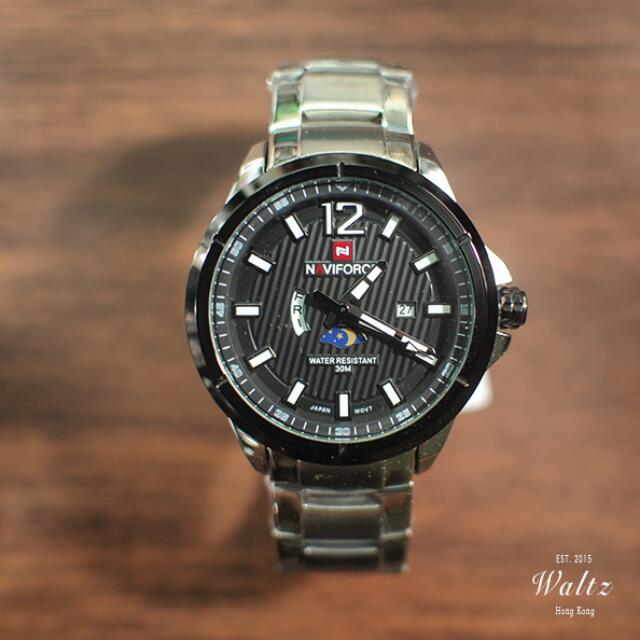 Navieforce日月碳纖手錶