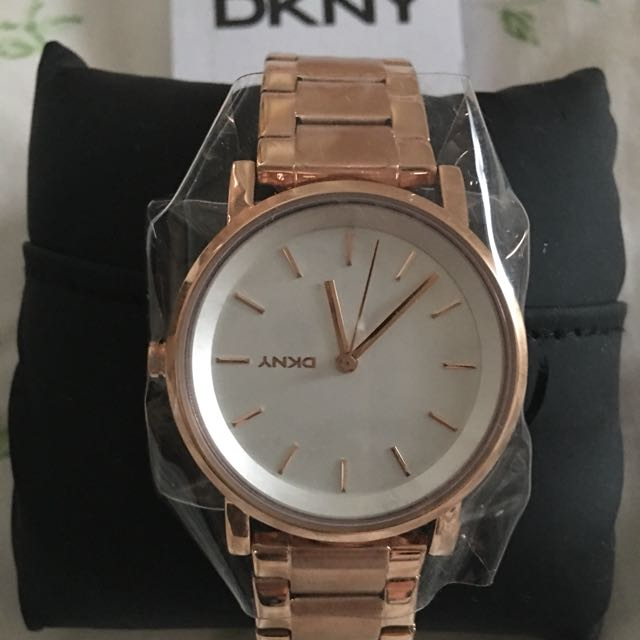 New DKNY Rose Gold SS Quartz Watch