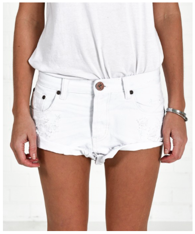 ONE TEASPOON white shorts