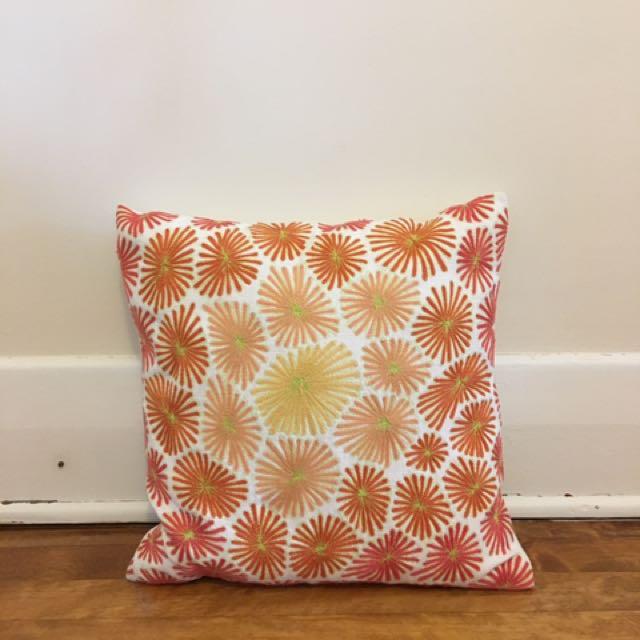 Orange Decorative Throw Pillow