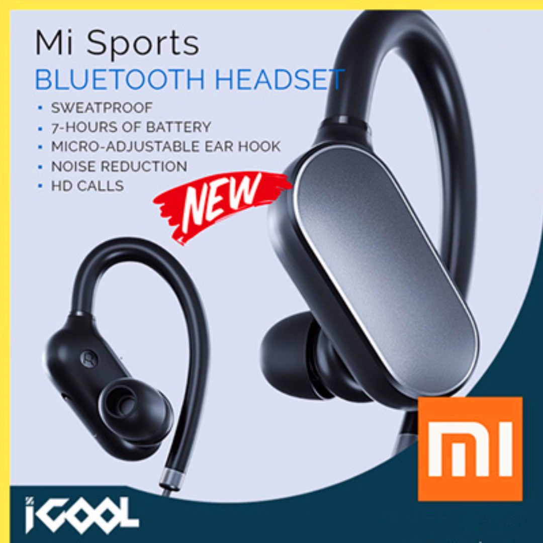 Original Xiaomi Mi Sports Bluetooth Headset Sweatproof Black White Colour Sports Sports Games Equipment On Carousell