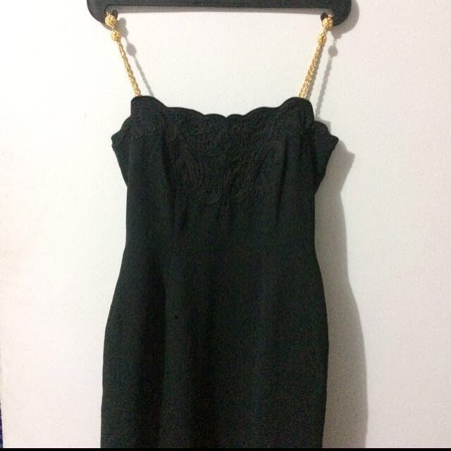 Overall Dress Black