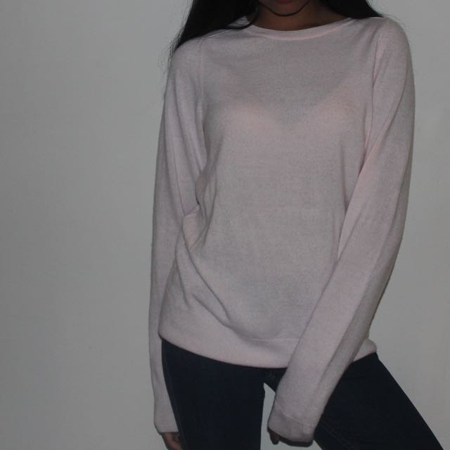 Pastel Pink fluffy sweater