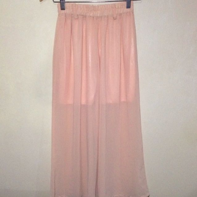Peach Sheer Square Pants