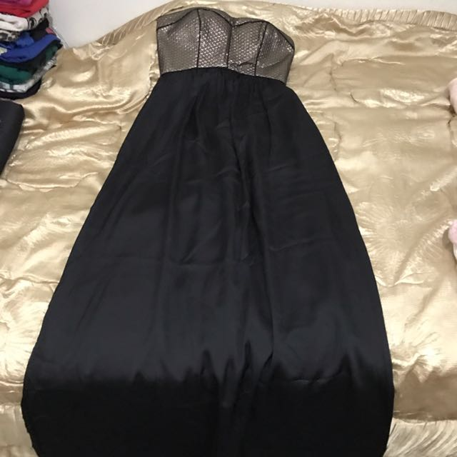 BRAND NEW! Pilgrim black and gold long gown Size 6
