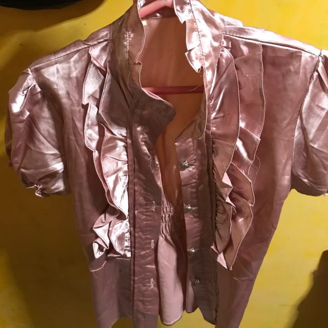 Pink Glossy Blouse