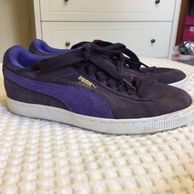 Purple Puma Suede